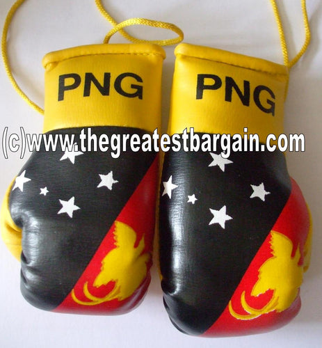 PNG/Papua New Guniea Flag Mini Boxing Gloves