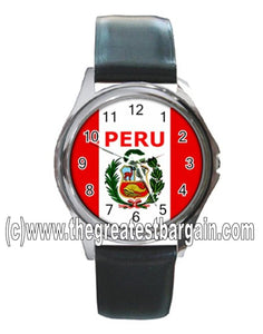 Peru Flag Unisex Watch