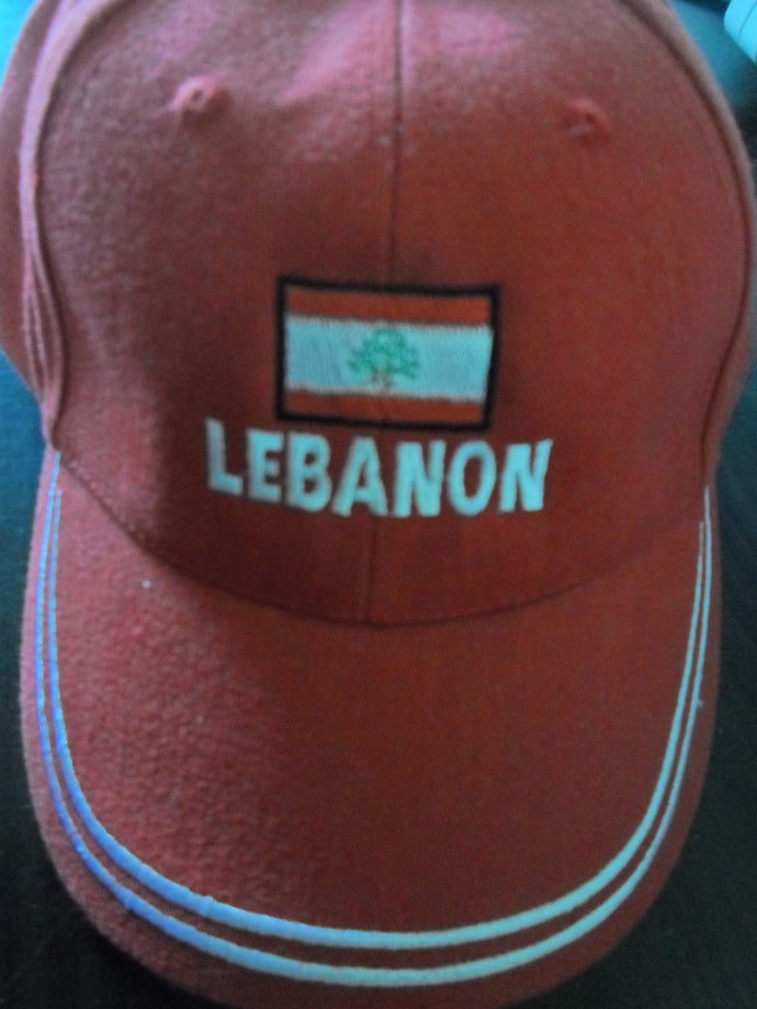 Lebanon Red Cap with Velcro to adjust from the back