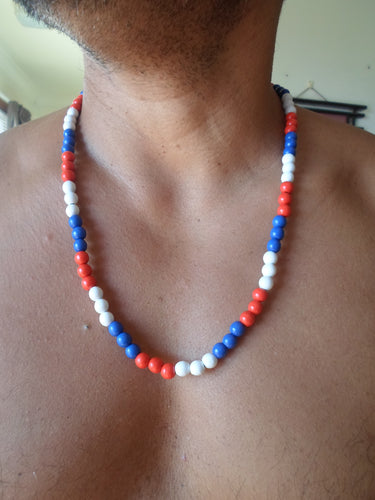 Samoa necklace with wooden beads-Medium