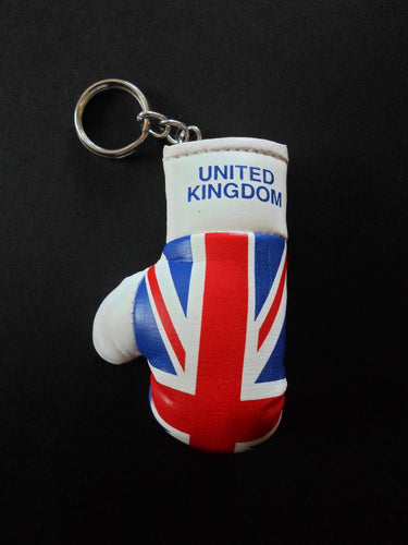 British Flag Mini Boxing glove Keyring