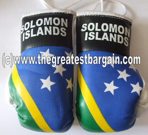 Solomon Islands Flag Mini Boxing Gloves