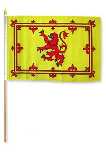 Scotland/Scottish/Lion Rapiant Flag Handwaver size. 30 cm x 45 cm without stick.