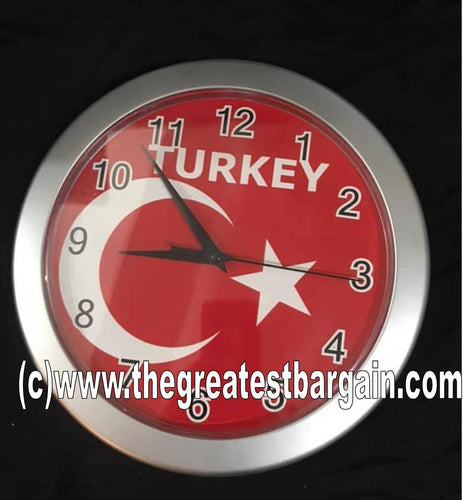 Turkey Turkish National Flag Wall Clock