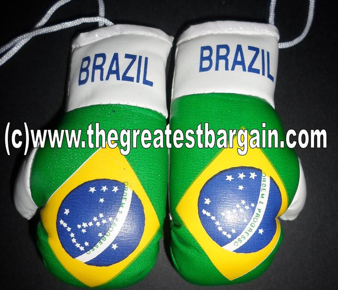 Brazil Flag Mini Boxing Gloves