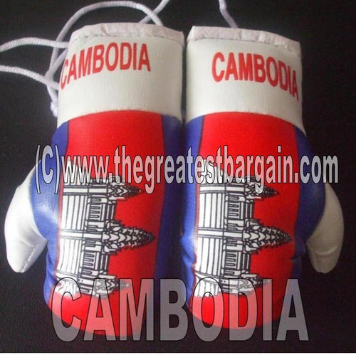 Cambodia Flag Mini Boxing Gloves