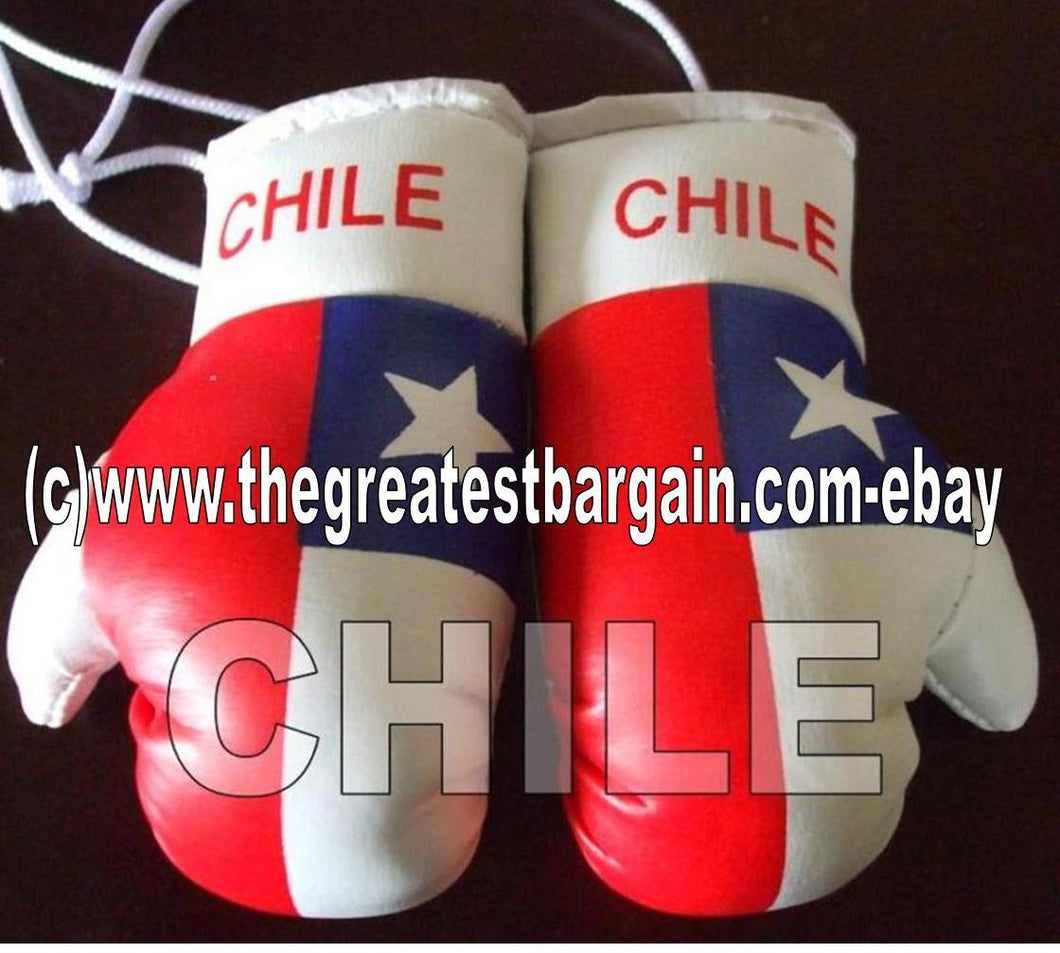 Chile Flag Mini Boxing Gloves