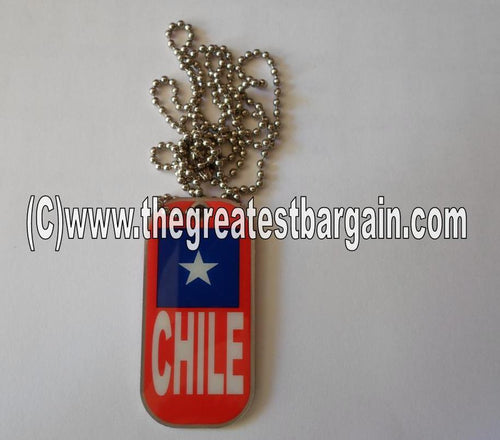 Chile ID/Dog Tag double sided with chain Necklace