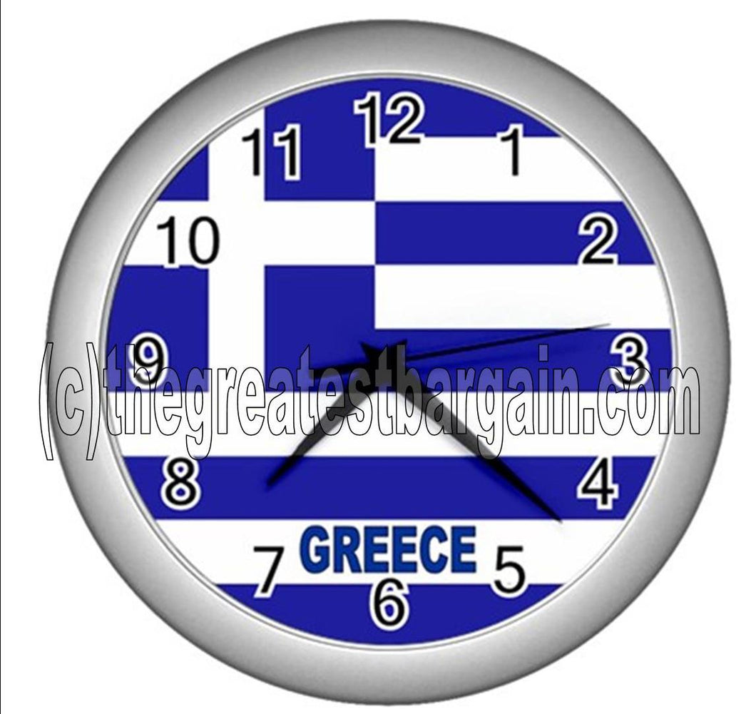 Greece Wall Clock