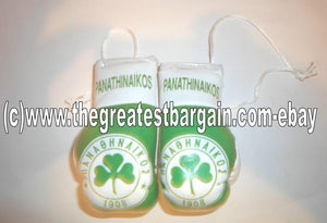 GREEK Panathinaikos Flag Mini Boxing Gloves