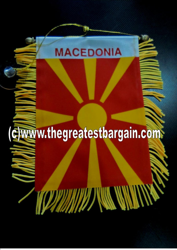 Macedonia Mini Car Banner