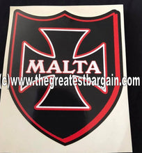 Load image into Gallery viewer, Malta Sticker Black