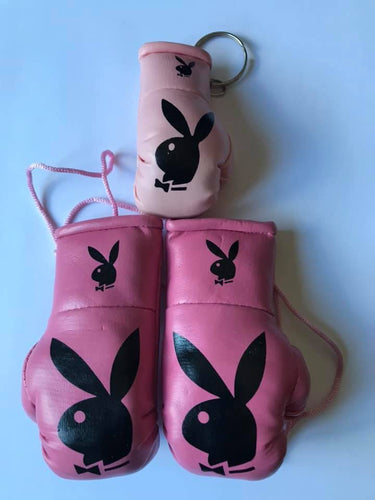 Playboy Dark Pink Mini Boxing Gloves + Keyring