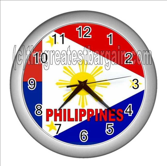 Philippines Wall Clock-Red