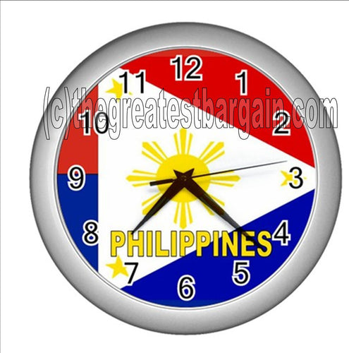 Philippines Wall Clock-Yellow