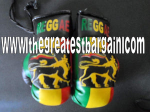 Reggae Rasta Mini Boxing Gloves