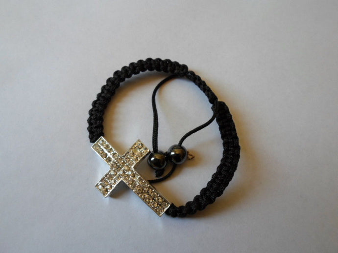 Holy Cross Good Luck/Religious bracelet.1 size fits all.Unisex.Ropes.Silver