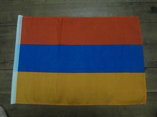 ARMENIA Flag Handwaver size. 30 cm x 45 cm without stick. Second