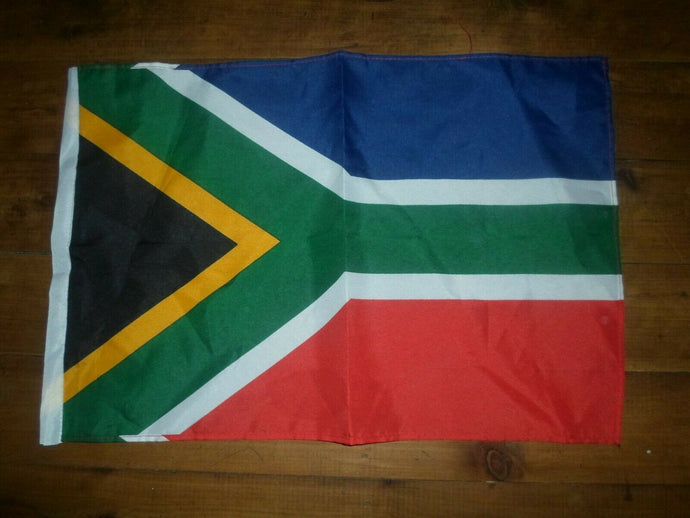 South Africa Flag Handwaver size. 30 cm x 45 cm without stick