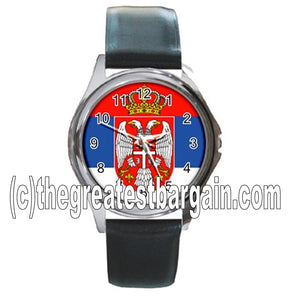 Serbia Flag Unisex Watch-1