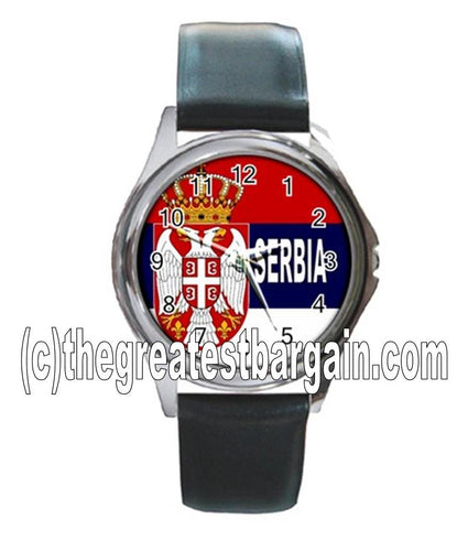 Serbia Flag Unisex Watch-2