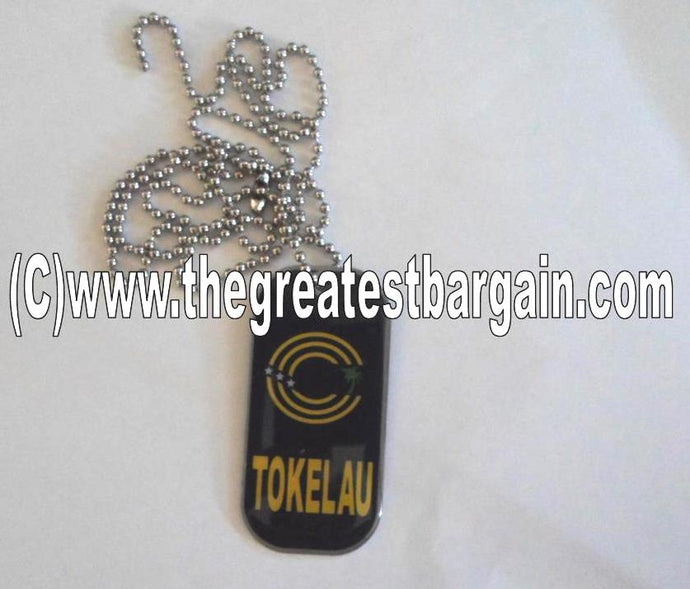 Tokelau ID/Dog Tag double sided with chain Necklace