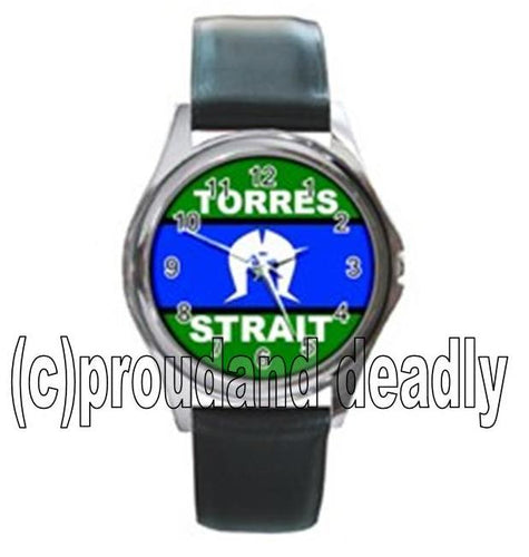 Torres Strait Flag Unisex Watch