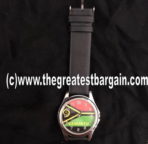 Vanuatu Flag Unisex Watch-Design 1