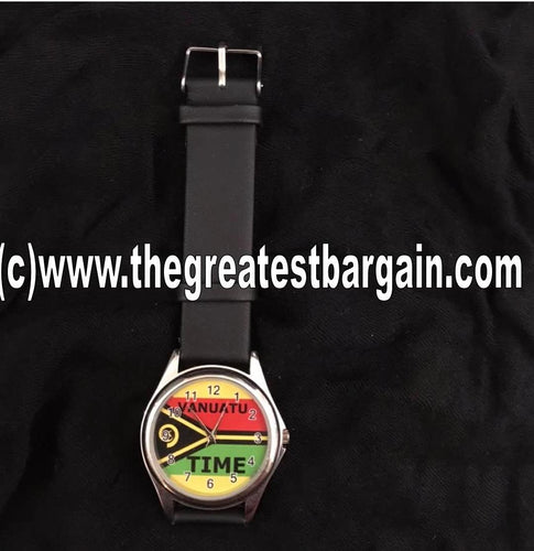Vanuatu Flag Unisex Watch-Design 2