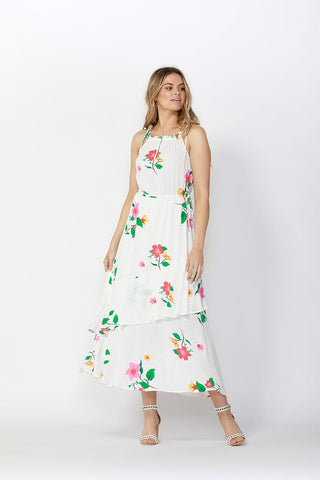 Sass Hibiscus Layered Maxi Dress