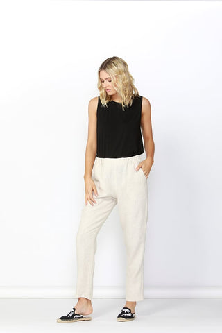 Betty Basics Rocco Linen Pants Natural
