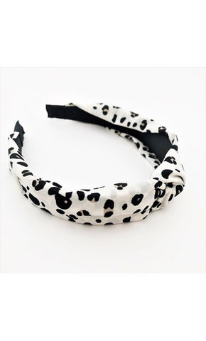 Alice Cheetah Knot Headband