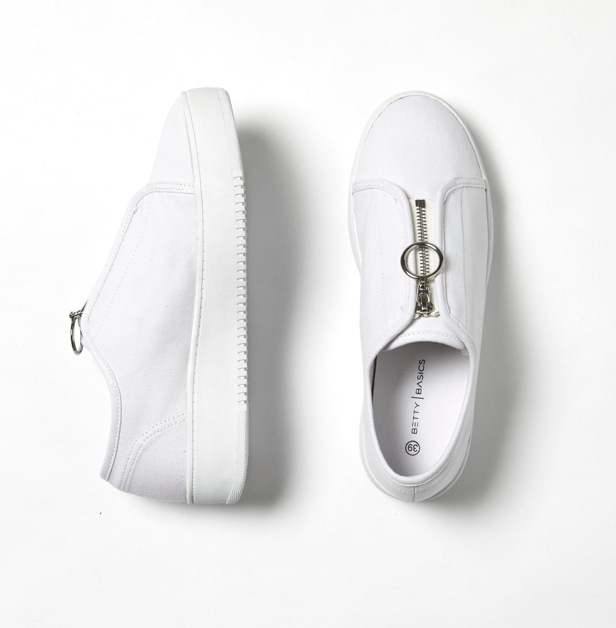 Betty Basics Cruise Zip Sneaker in White