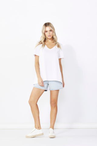 Betty Basics Hannah Tee White