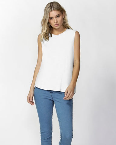 Betty Basics Capri Tank White