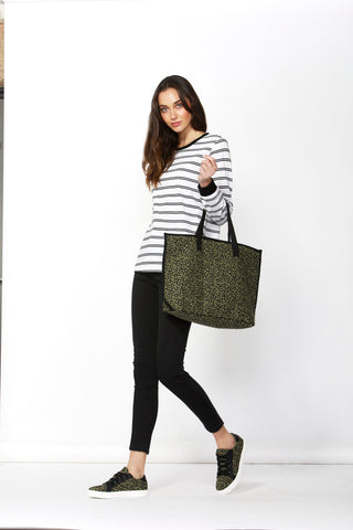 Betty Basics Jetsetter Bag Khaki Leopard