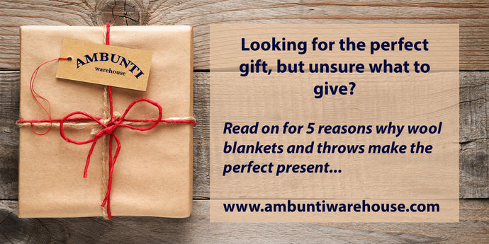 Five reasons why wool blankets make the perfect gift