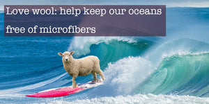 Surfing sheep promoting wool as an alternative to keep the oceans free from microfibres