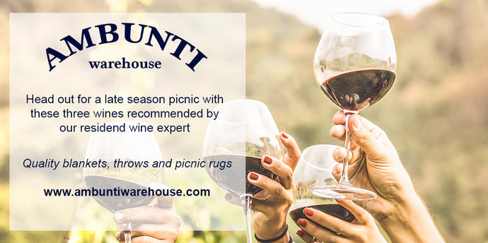 Three wines for the perfect picnic. Keep summer alive!