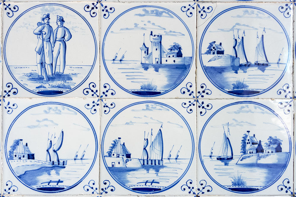 Dutch blue and white tiles