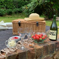 Traditional picnic with wool picnic blanket