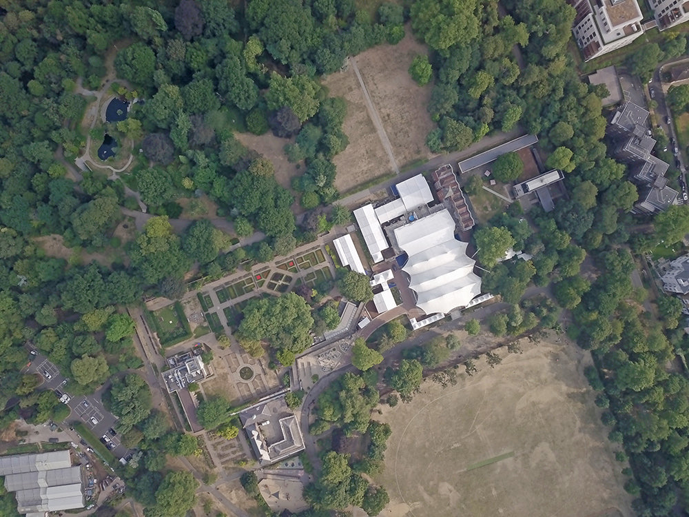 Aerial photo of Holland Park Opera