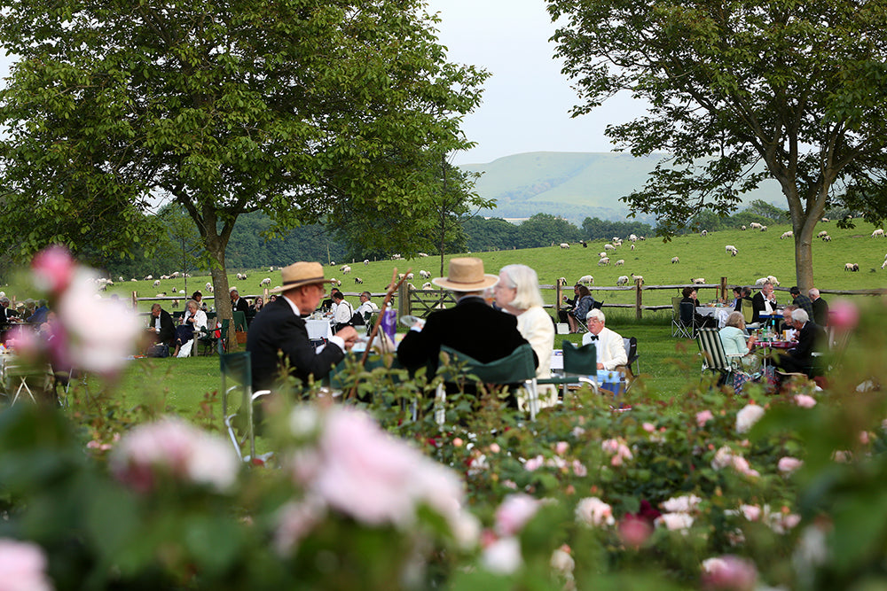 Picnicking in the gardens at Glyndebourne festival