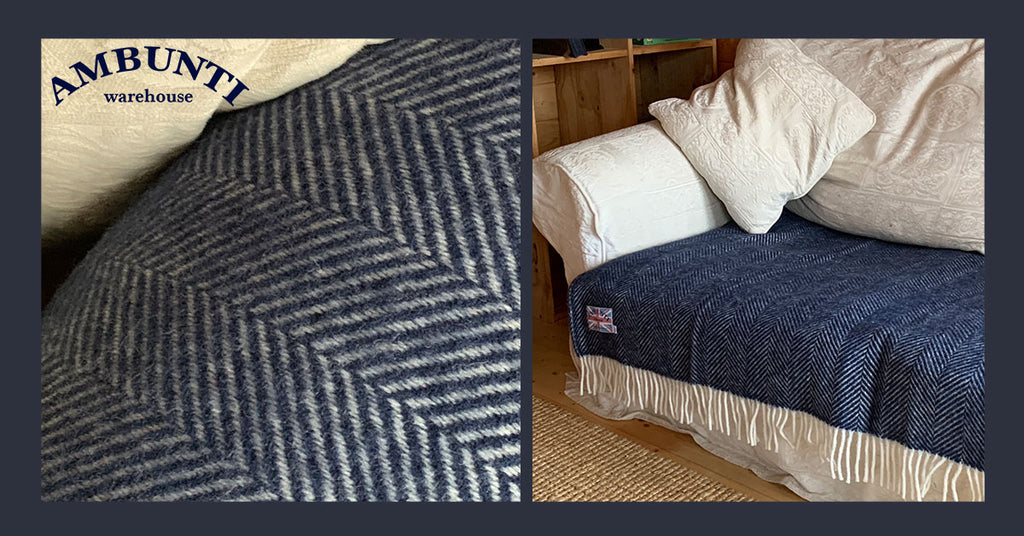 How to revive an old sofa using a wool blanket