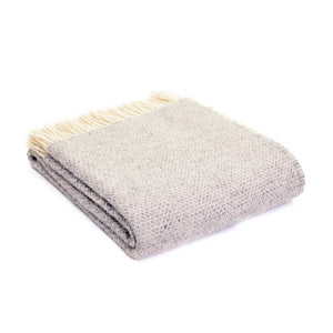 Grey beehive wool throw