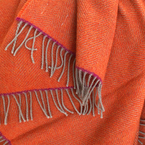 Cadmium Orange Throw