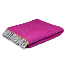 Fuschia Herringbone Throw