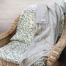 Light Grey Herringbone Throw