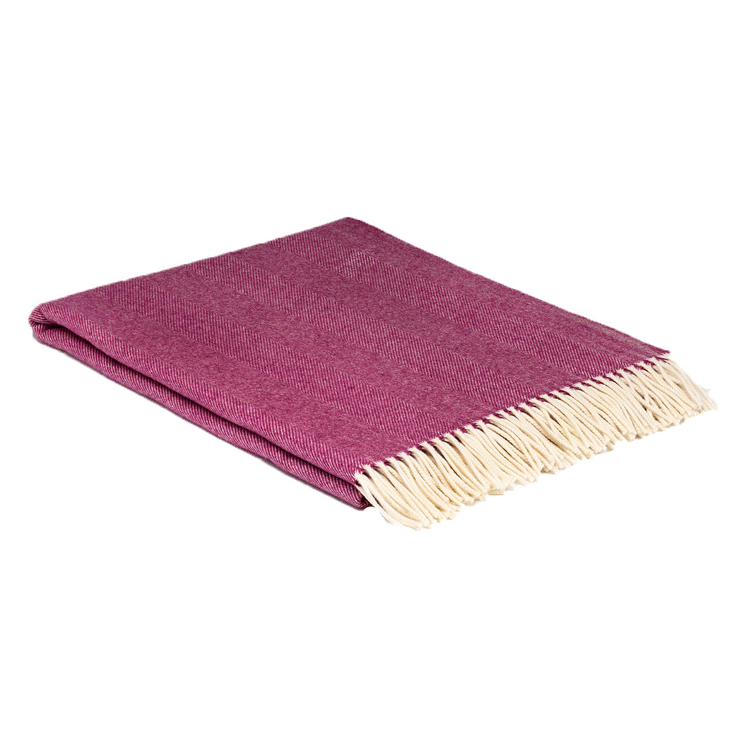 Mulberry pink throw