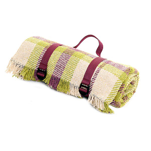 Mulberry Green Recycled Wool Picnic Rug